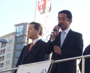 人のつながりを感じる政治に! 東神奈川駅前街頭演説会