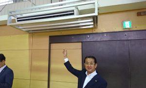 学校体育館へのエアコン設置 視察