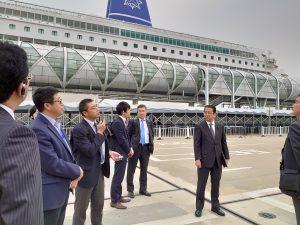 呉淞口国際郵輪港(上海宝山国際クルーズターミナル) を視察